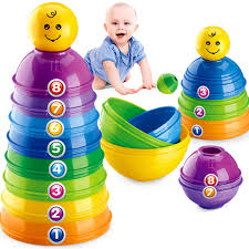 dels about baby kids 9 stack up cups toy perfect for gift bath toys 6 months stacking new
