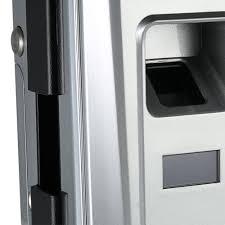 single open door fingerprint lock fingerprint touchscreen smart lock digital glass door lock s silver tomtop