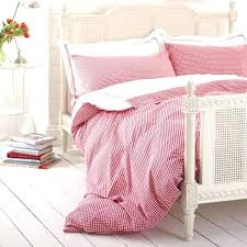 red gingham duvet cover bed