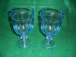 2 libbey gibraltar misty blue ice tea glass