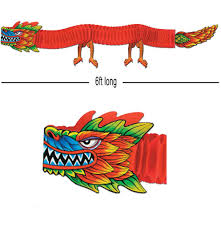 chinese oriental tissue dragon decoration 6ft long