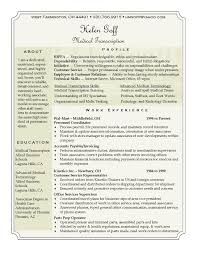 Medical Transcription Resume Helen Goff Resume Medical Transcription Resume Career Medical 18
