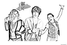 Coloriage Trio Soy Luna 6 Dessin Coloriage Soy Luna Patin Facile A Colorier Dessin A Imprimer L