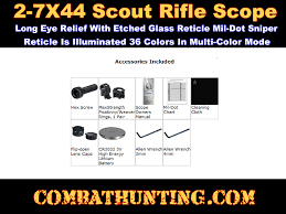 Leapers Utg 2 7x44 Long Eye Relief Scout Rifle Scope Ie