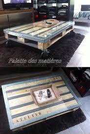 Table Basse Palette Cornières Métal Verre F Pionnier En