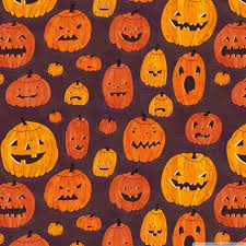 Halloween Pumpkins Pattern Ultra HD ...