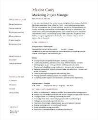 Marketing Manager Resume Templates Samples Job Pdf Mmventures Co