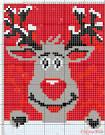 Схема вязания оленя на детском свитере