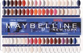 Nail Color Chart Nail Polish Charts With Fixed Nails Colordisplay