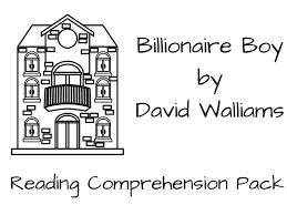 Chapter Worksheets for Billionaire Boy by TheGingerTeacher ...