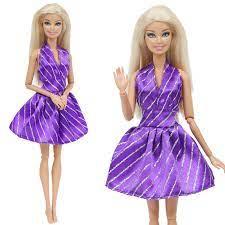 Bạc Thời Trang Sọc Tím Cổ Chữ V Gợi Cảm Đảng Bầu Bộ Trang Phục Phụ Kiện Búp  Bê Quần Áo Cho Búp Bê Barbie Đồ Chơi|Phụ Kiện Búp Bê
