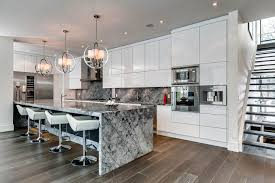 image modern kitchen lighting. marble island breakfast bar kitchen lighting contemporary house in toronto canada image modern n