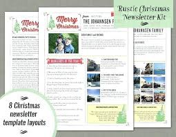 Best Holiday Templates For Word Newsletter Free Christmas Template