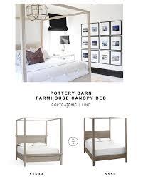 Pottery Barn Farmhouse Canopy Bed - copycatchic