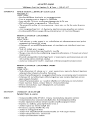 Technical Project Coordinator Resume Samples Velvet Jobs