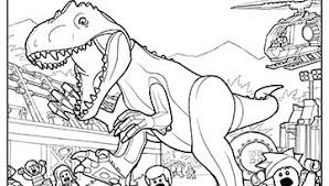 Downloadable Lego Jurassic World Colouring Pages Caden Bday Ideas
