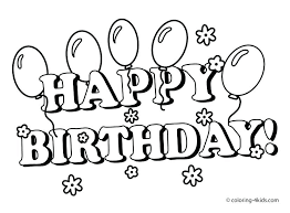 Birthday Coloring Pages Free Happy Birthday Coloring Pictures Happy