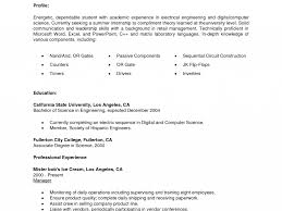 Internship Resume Template No Experience Sample For Accounting