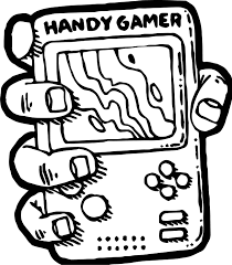 Small Picture Nintendo Handy Gamer Playing Computer Games Coloring Page