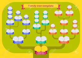 Family Tree Picture Template Family Tree Template Modern Flat Style Illustration Of Tree