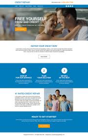 modern html website template to create your online presence credit repair consultation lead generating ideal website design