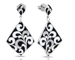 belle etoile contessa black earrings diamond designs orange ct jewelry