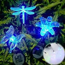 solar powered led color changing lawn