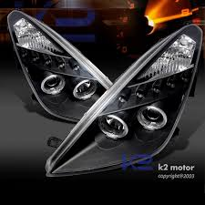 00 05 toyota celica dual halo led projector headlights black click to enlarge