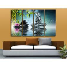 Paintings For Living Room Wall Oversized Buddha Yin Yang Painting On Canvas Living Room Four