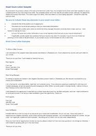 Elements Of A Cover Letter Examples For Resume Awesome Email Sample