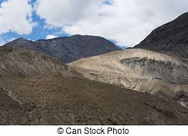 Barren and rugged mountain formation in ladakh, india, asia. | CanStock