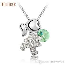 whole 2017 new the high end jewelry whole manufacturers using swarovski elements crystal necklace playful fashion pendant pendant necklaces uk