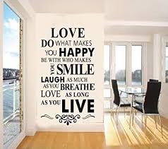 Quotes wall stickers Amazon Vinyl Wall Decals Quotes Inspirational Love Quotes Wall 47
