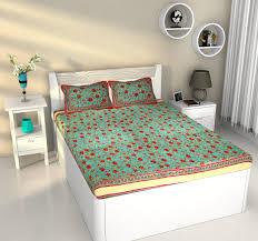 Screen Printing Designs For Bed Sheets Mughal Garden Floral Design Cotton Bedsheet Screen Print