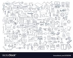 Hand Chart Hand Draw Doodle Elements Business Finance Chart