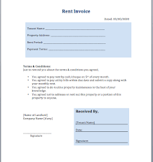 House Rent Bill Sample House Rent Invoice Template Rental In Excel Format