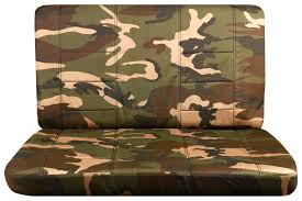 brown and green camo bench seat covers