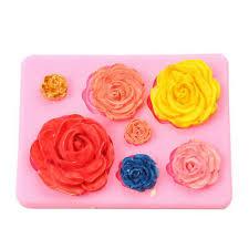 <b>Silicone 3D Big Rose Flower</b> Fondant Cake Chocolate Sugarcraft ...