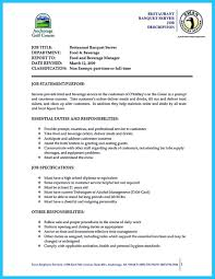 Sample Resume For Banquet Server Resume For Your Job Application