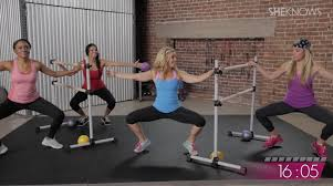 sheknows fitness studio 20 minute barre workout