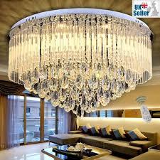 65 80cm modern round k9 crystal led