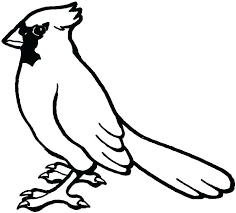 Coloring Pages Red Cardinal Coloring Page Bird Free Printable