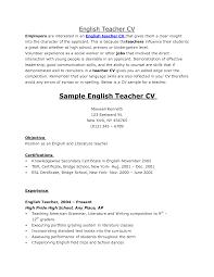 English Teacher Resume Samples Remarkable Resume Sample Of An English Teacher About Bunch Ideas Of 12