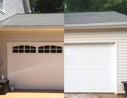 Simple Faux Carriage Garage Doors Style Tutorial Before And Intended Modern Ideas