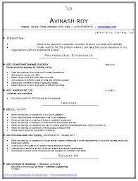 Latest Format For Popular Current Resume Format Free Career Resume
