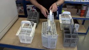 How To Repair Dishwasher How To Replace A Dishwasher Cutlery Basket Youtube