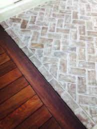 Kitchen Brick Floor Savannah Grey Thin Handmade Bricks For Flooring At Sea Pines