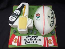 Rugby Beer Man U Themed Cake Cakes For All Uk