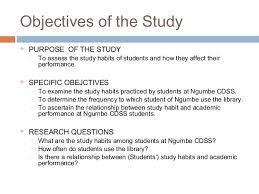 study habits investigate the study 5