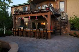 homemade outdoor bar